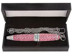 "Pink Swarovski Ballpoint Pen with 40"" Necklace Swarovski Crystal - $60.00 - Amazon"