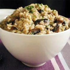 Barley Risotto with Caramelized Leeks and Mushrooms | MyRecipes.com