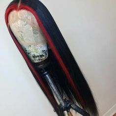 Peruvian Hair Black With Red Color Straight Lace Front wig – Lux Hair Shop