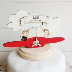 personalised plane wedding cake topper by just toppers | notonthehighstreet.com