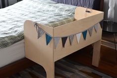 Apples & Beavers | A custom baby co-sleeper that hooks onto the bed frame