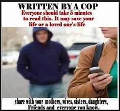 I read this on November It is a very useful article with many good common sense suggestions for personal safety. Please **SHARE** this! WRITTEN BY A COP: Everyone should take 5 minutes to read this. It may save your life or a loved one's life. Self Defense Women, Self Defense Tips, Self Defense Techniques, Survival Tips, Survival Skills, Survival Stuff, Survival Quotes, Urban Survival, Survival Food