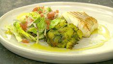 Stegt torsk med knuste kartofler og salat af grillet spidskål - TV 2 Pot Luck, Zucchini, Carne, Cabbage, Tacos, Wraps, Mexican, Meat, Chicken