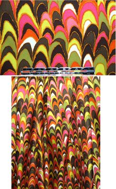 Milly colorful scallop design silk twill from EmmaOneSock.com