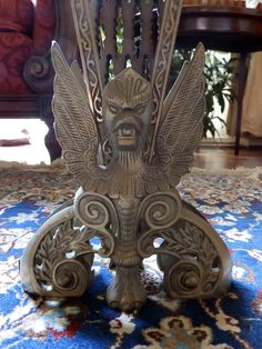 Antique Fireplace Ornaments : An attractive Victorian brass folding Fire Screen