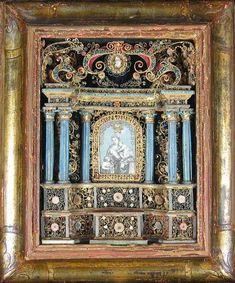 Vierge à l'Enfant et st Jean-Baptiste dans un retable XVIIIème