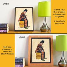Custom Wall Art  Prints on Wood  Charlie Chaplin by #AWoodStoryUK #Etsy #whatsyourstory