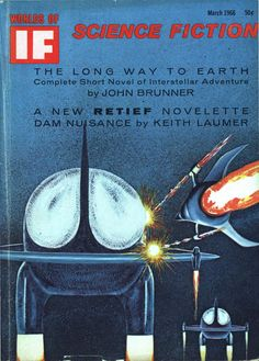 scificovers: Ifvol 16 no 3 March Cover by Castellon illustratingDraft Dodger by Kenneth Bulmer. Science Fiction Magazines, Science Fiction Art, Sisters Magazine, Classic Sci Fi Books, Pulp Magazine, Magazine Art, Short Novels, Book Cover Art, Retro Futurism