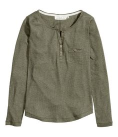 Product Detail | H&M US: Army henley shirt