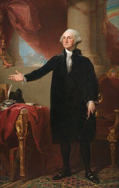 """George Washington by Mark Gulezian, National Portrait Gallery. Although nearly identical versions of the famous """"Lansdowne"""" portrait of George Washington hang in the White House, the House chamber, and the Capitol's Rayburn Room, the Portrait Gallery's painting is the original—confirmed in 2004 after years of controversy."""