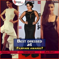 Which #bollywood diva looked the best at this year's #Filmfare awards? Vote here - http://itim.es/filmfare