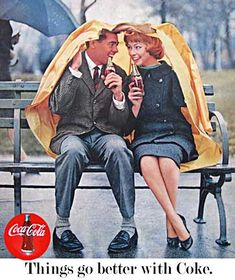 Vintage '60s Coca Cola ad. ☯All You Need Is Vintage☯ ❤ Vintage Wonderland ❤