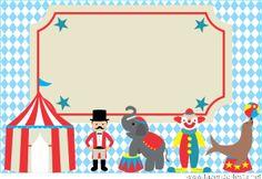kit festa tema circo convite