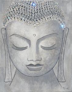 Buddha Art - Swarovski Crystals & Acrylic on Canvas. $320.00, via Etsy.