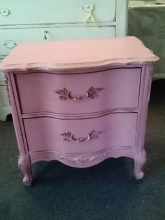 Vintage Shabby Chic French Provincial Table by HandpaintedbyCookie, $99.00