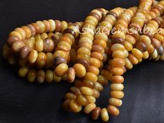 Natural Yellow opal plain smooth Rondelle beads size 7-8mm strand 8 inches long