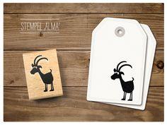 Tiere - Stempel Steinbock Alma - ein Designerstück von catsonappletrees bei DaWanda
