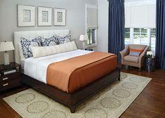 Color scheme- orange, navy, grey