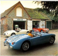 *Yeah, I apparently like this car. Nearly every car that caught my eye whilst scrolling down the page was an MGA British Sports Cars, Vintage Sports Cars, Classic Sports Cars, Retro Cars, Classic Cars, Classic Auto, Mg Cars, Vw Vintage, Convertible