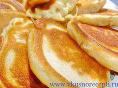 пышные оладьи на кефире без яиц фото
