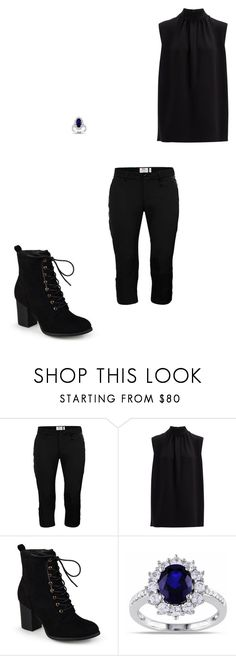 """""""Back in Black #7"""" by femalewarrior205 ❤ liked on Polyvore featuring Fjällräven, Joseph, Journee Collection and Miadora"""