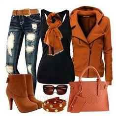 Gorgeous Winter Fashion Outfit Combination - World Look Fashion, Denim Fashion, Fashion Outfits, Womens Fashion, Fashion Trends, Fall Fashion, Fashion Ideas, Fashion 101, Fashion Black