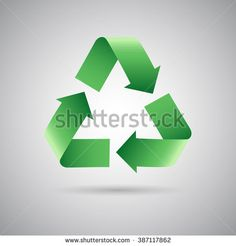 Green recycle symbol icon, Vector illustration