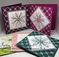 Gwen's Craftin and Stampin: Fresh Floral Daisy Cards in a selection of colours