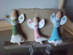 Christmas ornaments handmade set of 3 angels by SweetMeadowDesigns, $14.50