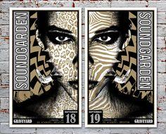 Silver Variant Soundgarden & Graveyard London Silkscreen Posters