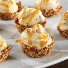 Sweet 'N Salty Caramel Mousse Cups Salted caramel hot chocolate is so popular around the holidays…but why not have it for dessert? These two-bite desserts will leave you wishing for more (hint: you can make bigger ones in the Brownie Pan!)—but they're so easy to make, they'll be your new go-to dessert. Swap the caramel topping for chocolate, and you'll have a real treat!
