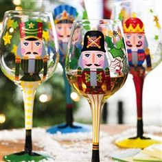 Nutcracker Wine Glass