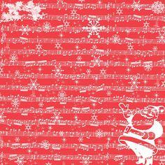 Free Digital Scrapbook Paper - Christmas Sheet Music