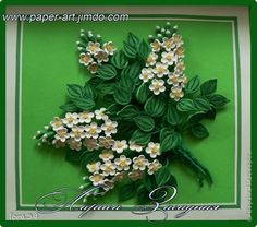 Painting mural drawing March 8 Mother's Day Birthday Family Day Teacher's Day Quilling Prunus fragrant + link to MK Paper Adhesive Wire Phot ...
