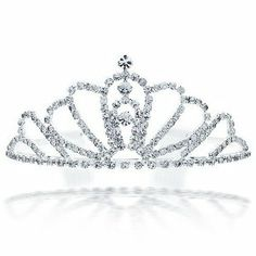 Mothers Day Gifts Bling Jewelry Silver Plated Expanding Arch Crystal Headpiece Crown Tiara Bling Jewelry. $24.99