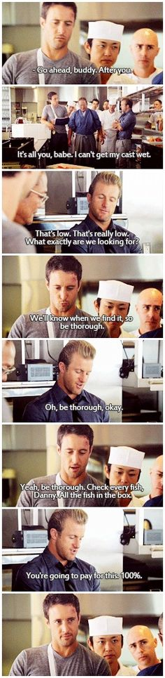 """Hawaii Five 0 McDanno """"babe"""" Steven eyefucking in the last one 1.20"""