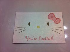 Hello Kitty Birthday Party Invitations. $1.25, via Etsy.