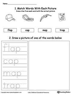 AN Word Family Trace and Write   Word families, Words and Ap