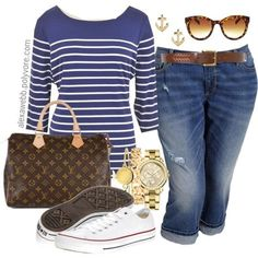 Super Clothes Plus Size Women Casual Outfits Polyvore 20 Ideas Curvy Girl Fashion, Look Fashion, Plus Size Fashion, Spring Fashion, Fashion Outfits, Womens Fashion, Sneakers Fashion, Trendy Fashion, Plus Size Casual