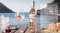 Geniet van deze frisse rosé cocktail met Ramon Bilbao Rosado. https://www.flesjewijn.com/wijnen/ramon-bilbao-rosado-636