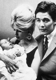 Brigitte Bardot ,Jacques Charrier and Nicolas-Jacques Charrier - 1960 Brigitte Bardot, Bridget Bardot, Jacques Charrier, Cinema, Alain Delon, French Actress, Life Is Beautiful, Old Hollywood, Movie Stars