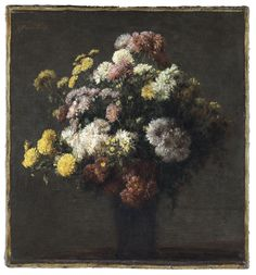 Crisantemos en un florero - Henri Fantin-Latour | Museo Thyssen