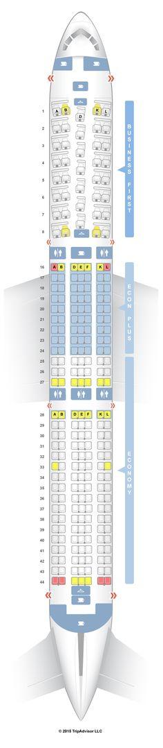 SeatGuru Seat Map United Boeing 767-400ER (764) Intl (Returning)