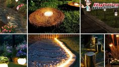 Create the beautiful patterns in your patio and garden ways at night. #LightUpGarden #LightingDoctor #PatioLighting #GardenLighting www.lightingdoctor.ca