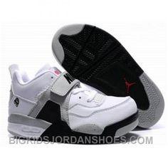 size 40 c0620 16dc8 Kids Air Jordan 4 Retro White Grey Black, cheap Jordan Kids, If you want to  look Kids Air Jordan 4 Retro White Grey Black, you can view the Jordan Kids  ...