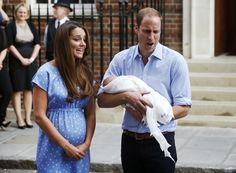 """Kate told reporters that William had already changed his first diaper and he was """"very good"""" at it."""