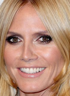Close-up of Heidi Klum at the 2015 Elton John AIDS Foundation Academy Awards viewing party. http://beautyeditor.ca/2015/02/25/oscars-after-parties-2015