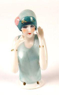 Beautiful Art Deco Porcelain Figure Tea Cosy Top Half Pin Cushion Doll.   Antiques, Decorative Arts, Ceramics & Porcelain   eBay!