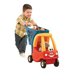 Classic Cozy Coupe Styling To Complement Other Little Tikes Toys!;Seat Fits 12 Doll Or Plush;Plenty Of Cart And Storage Space For Toys And Other Small Items;Durable Safety-tested Construction For Lon...