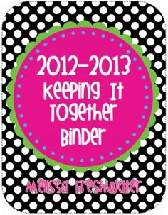 Keeping It All Together Binder with Forms (Because if I don't pin it I'll never find it again!)